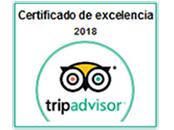 Certificado de excelencia de Tripadvisor - 2018